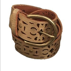 LUCKY BRAND Gold LEATHER BELT